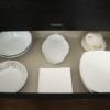 食器の収納アイデア!一目でわかる色別収納