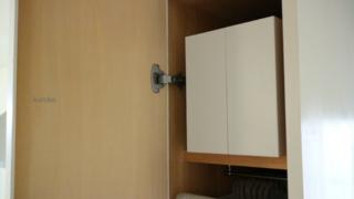 変則的な場所にも最適【無印のファイルボックス】洗面所の収納