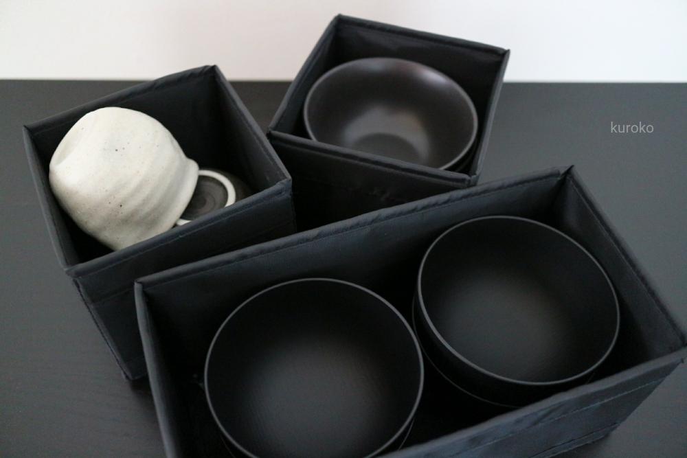 イケアSKUBBを使ったお茶碗等の収納