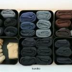 タイツ・ストッキングはセリアのケースで!たたみ方と収納方法