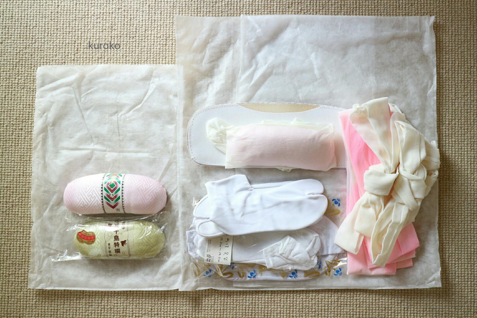 着物の小物入れ用不織布の袋