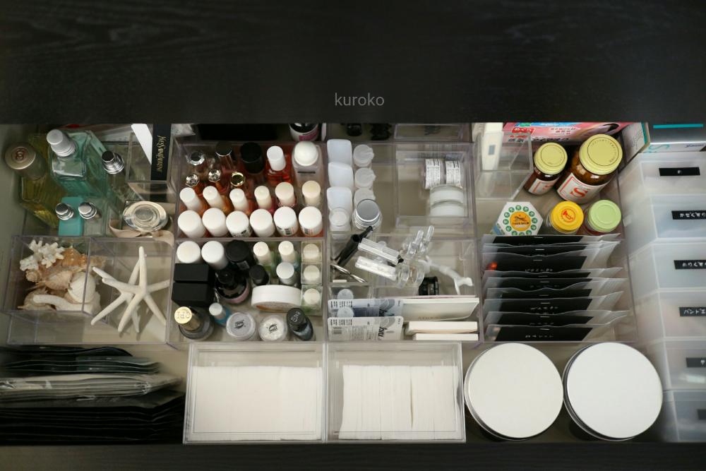 美容雑貨と薬の収納方法