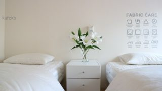 寝室は、ほぼ無印【夏仕様】