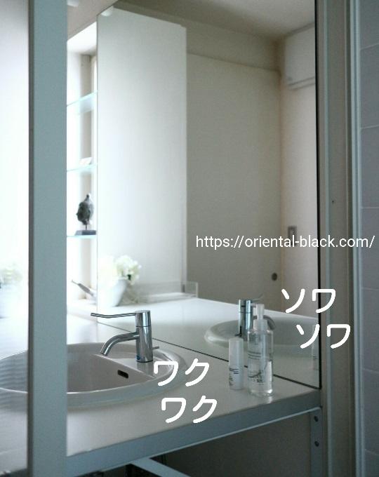 洗面所に置いた無印のオイルの画像