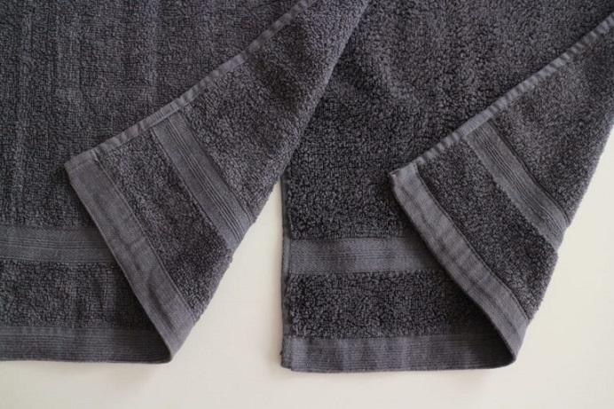 ニトリのハンドタオルとフェイスタオルの比較画像