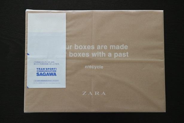 ZARAから届いた箱の画僧