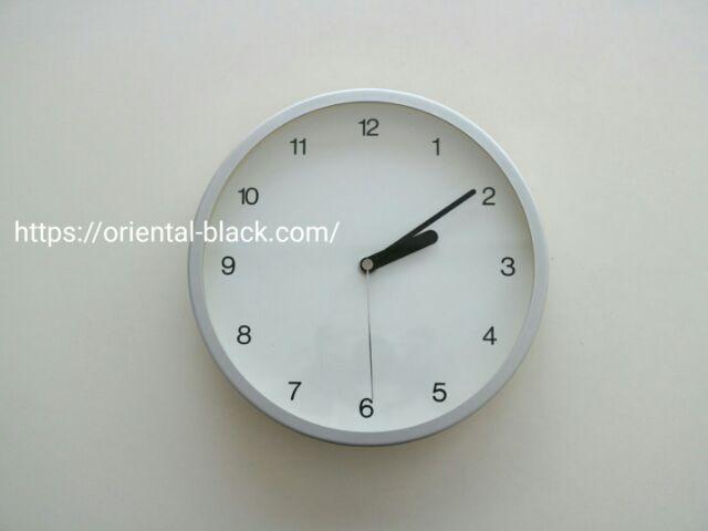 長年愛用してる無印の時計の画像